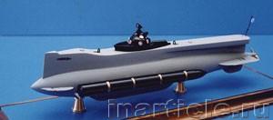 сделать макет подводной лодки своими руками